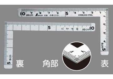 33x100mm Thước ê ke vuông Shinwa 12102